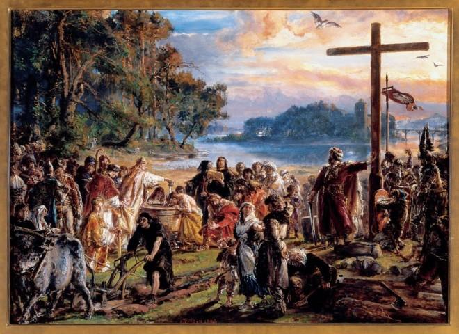 Jan-Matejko-Chrzest-Polski_obrazy-olejne_reprodukcje-i-kopie-na-plotnie-Galeria-Jana-Matejki-1024x745-660x480